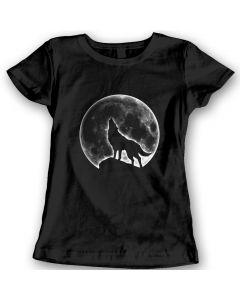 Wolf Mond T-Shirts Damen Geschenk Idee 100% Baumwolle Weihnachtsgeschenk Geburtstag