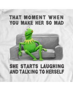 Mit Kermit das Frosch-T-Shirt lachen und sprechen