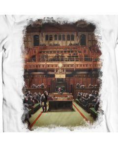 Affe-Parlament T-Shirt Entwurf durch Banksy