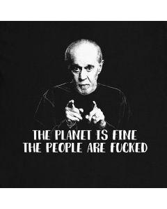 Der Planet ist feine George Carlin Gegenwart Comediant Die Leute sind geficktes Satz