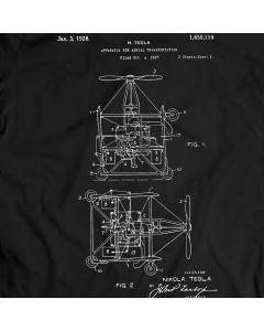 Tesla Luft Transport Patent 1968 T-Shirt Mens Geschenk Idee Nicola Tesla T-Stück