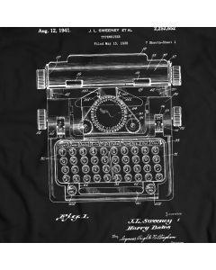 Schreibmaschine 1941 Weinlese antikes Patent T-Shirt Mens Geschenk Idee 100% Baumwolle
