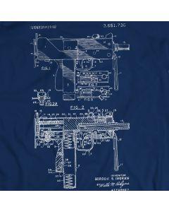 Uzi T-Shirt Open Bolt, Blowback betriebene Maschinenpistole Geschenkidee